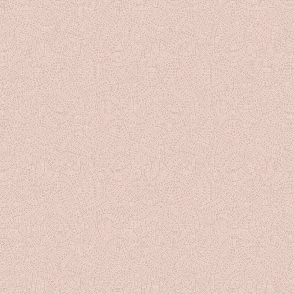 Mosaic Wallpaper - Pink Stucco - by 1838 Wallcoverings