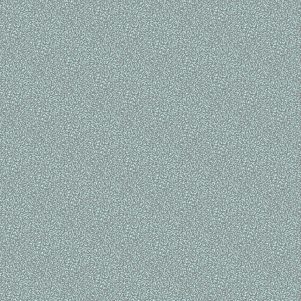 Corallo Wallpaper - Aquamarine - by 1838 Wallcoverings
