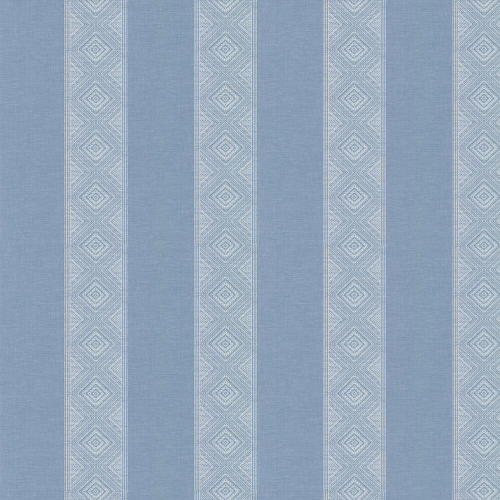 Manuel Canovas Taya Sky Blue Wallpaper - Product code: 03096-06