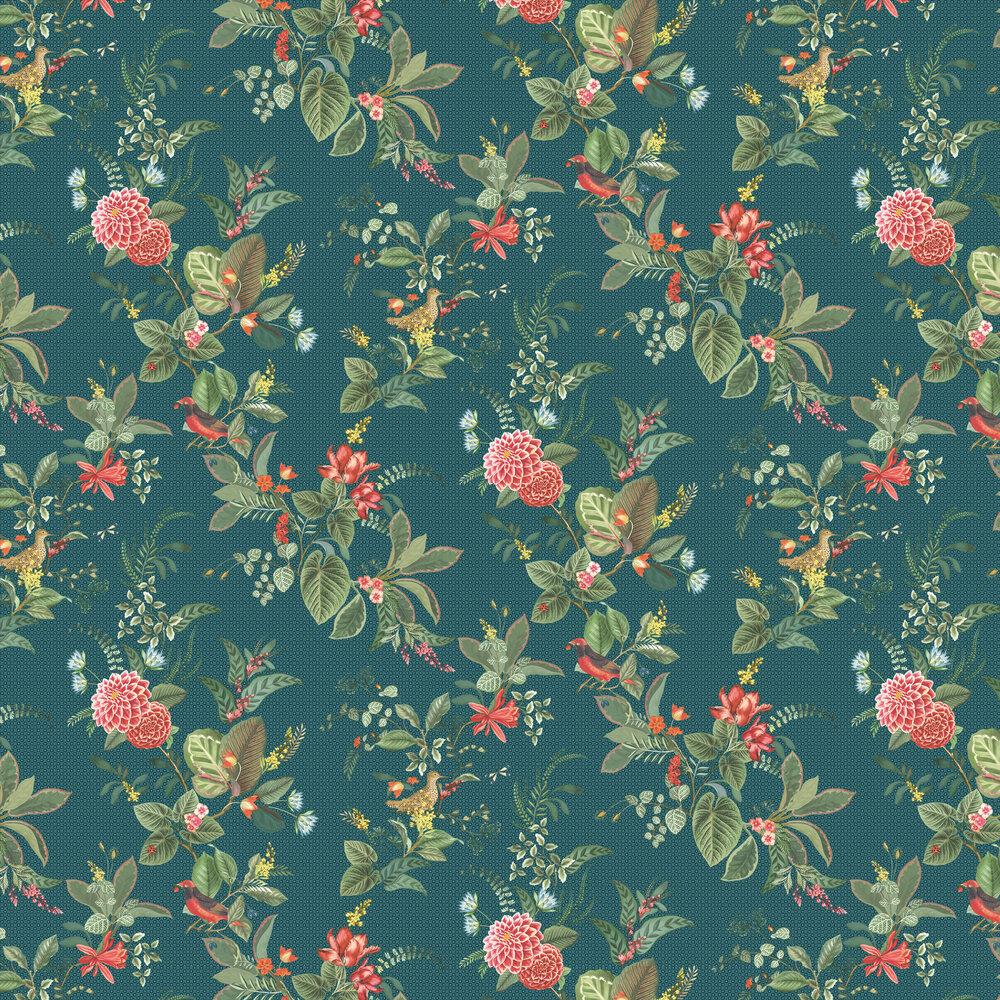 Floris Wallpaper - Dark Blue - by Eijffinger