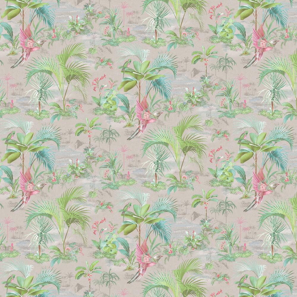 Palm Scene Wallpaper - Grey - by Eijffinger