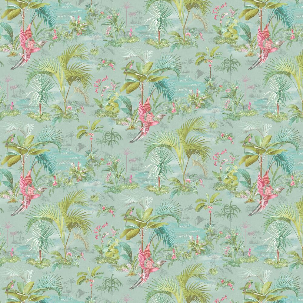 Eijffinger Palm Scene Blue Wallpaper - Product code: 300145