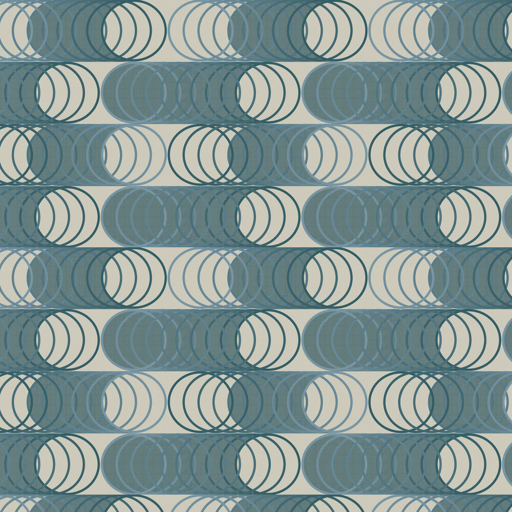 Circles Wallpaper - Green - by Tres Tintas