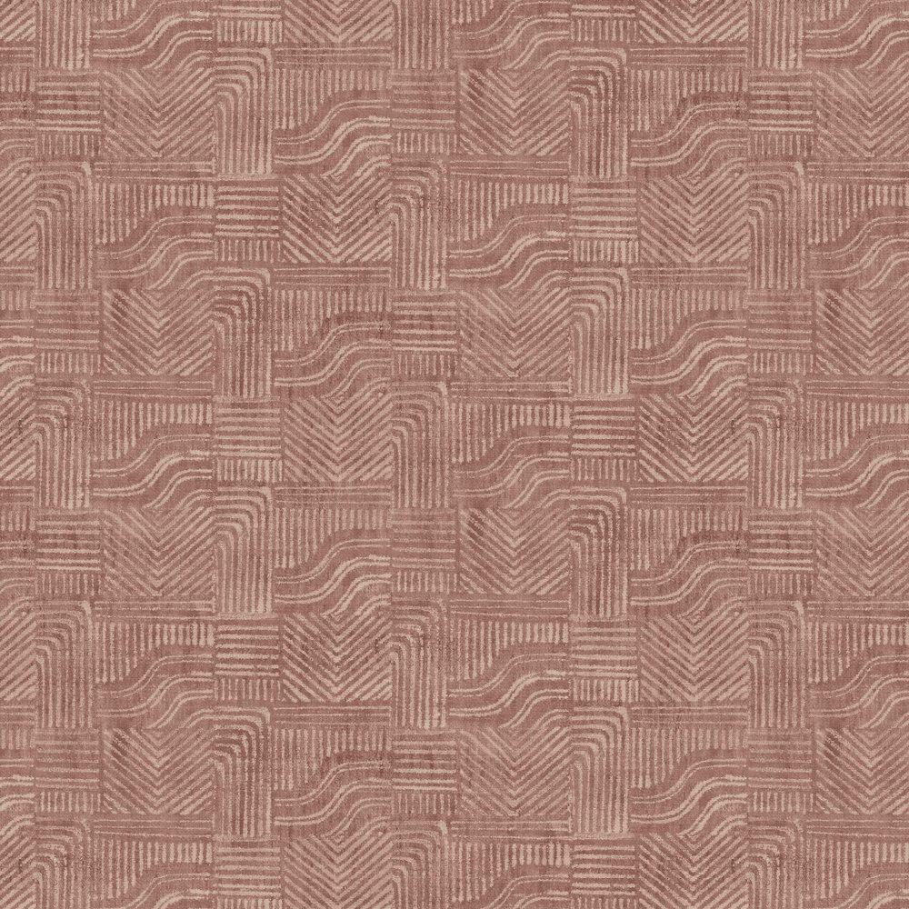 Line Shapes Wallpaper - Brick Dust - by Eijffinger