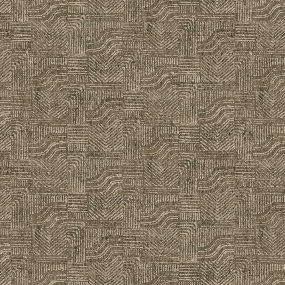 Line Shapes Wallpaper - Teak - by Eijffinger