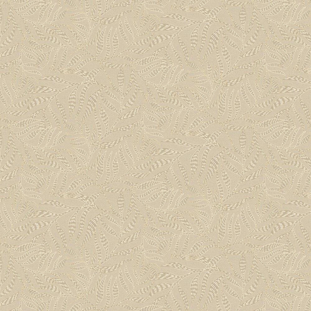 Tribal Leaves Wallpaper - Oatmeal - by Eijffinger