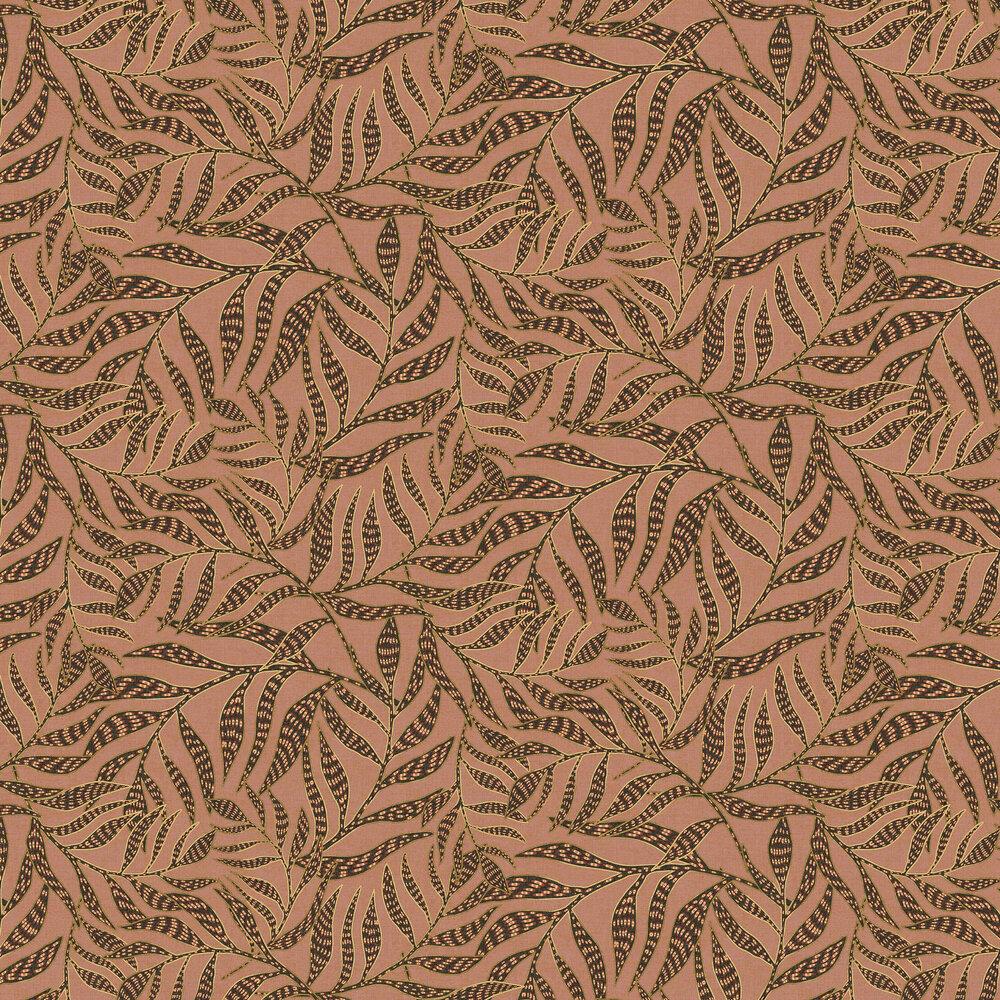 Tribal Leaves Wallpaper - Pink Sierra - by Eijffinger