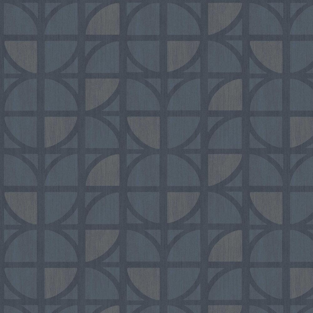Bold Geo Wallpaper - Blue - by Eijffinger