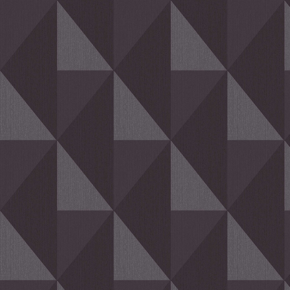 Bold Diamond Wallpaper - Black - by Eijffinger