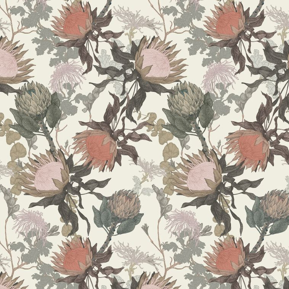 Proteas Dream Wallpaper - Cream - by 17 Patterns