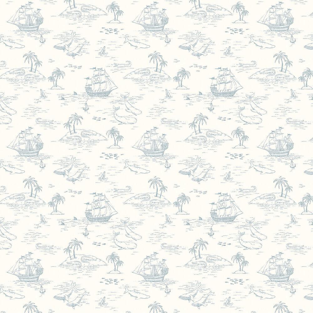 Treasure Island Wallpaper - Cream White - by Boråstapeter