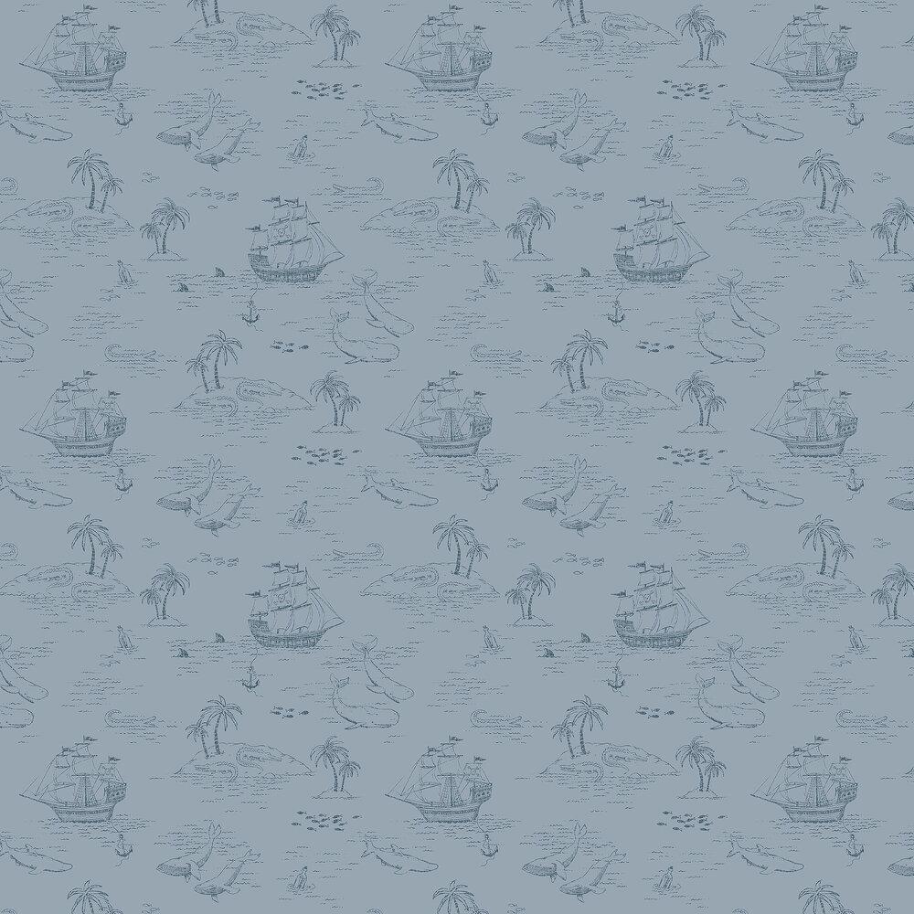 Boråstapeter Treasure Island Fog Blue Wallpaper - Product code: 7451