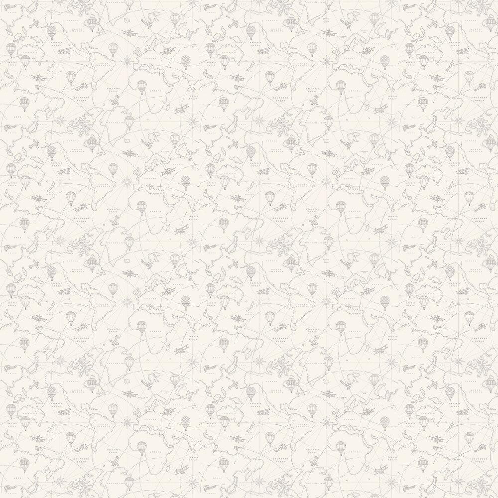 Adventures Wallpaper - Pale Beige - by Boråstapeter