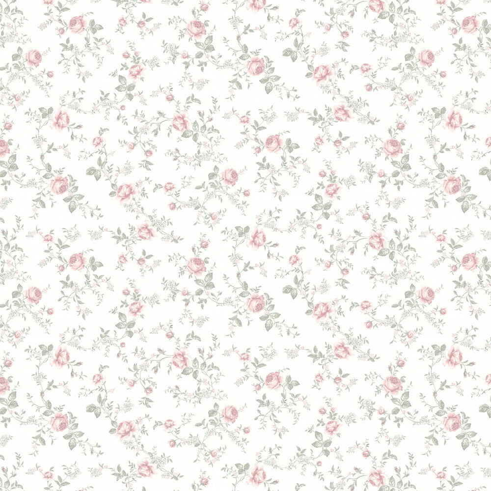 Boråstapeter Rose Garden Cream White Wallpaper - Product code: 7464
