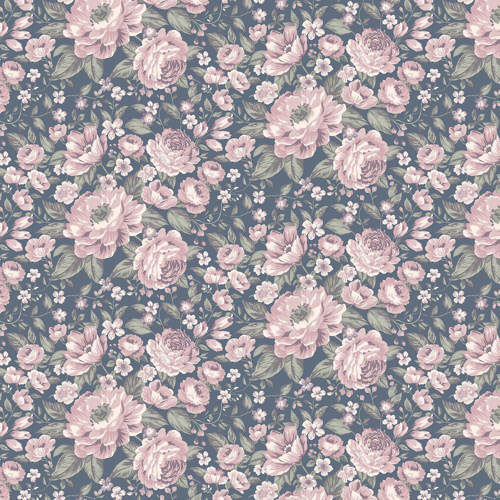 Boråstapeter Rosie Dark Blue Wallpaper - Product code: 7471