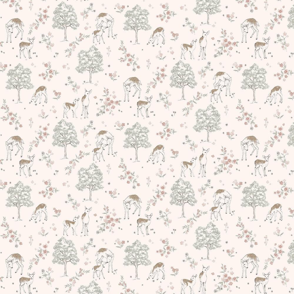 Boråstapeter Deer Love Pale Pink Wallpaper - Product code: 7473