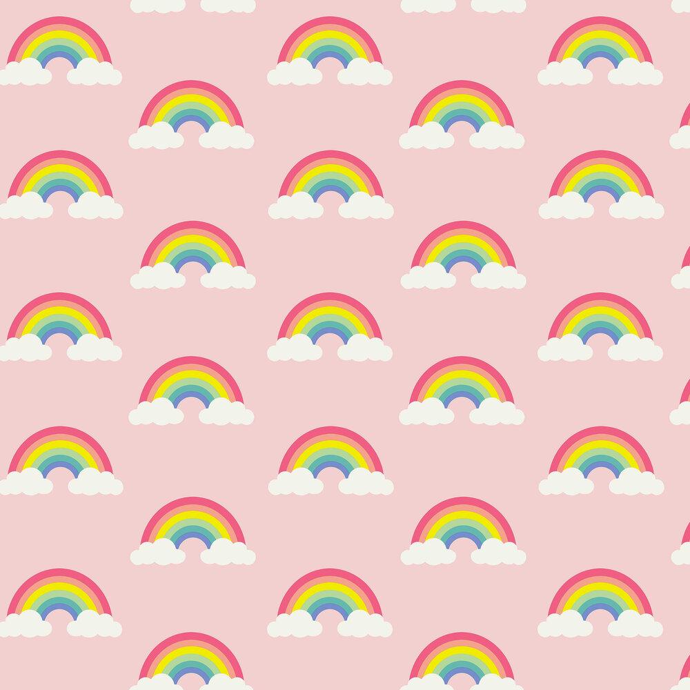 Albany Retro Rainbow Pink Wallpaper - Product code: 9991