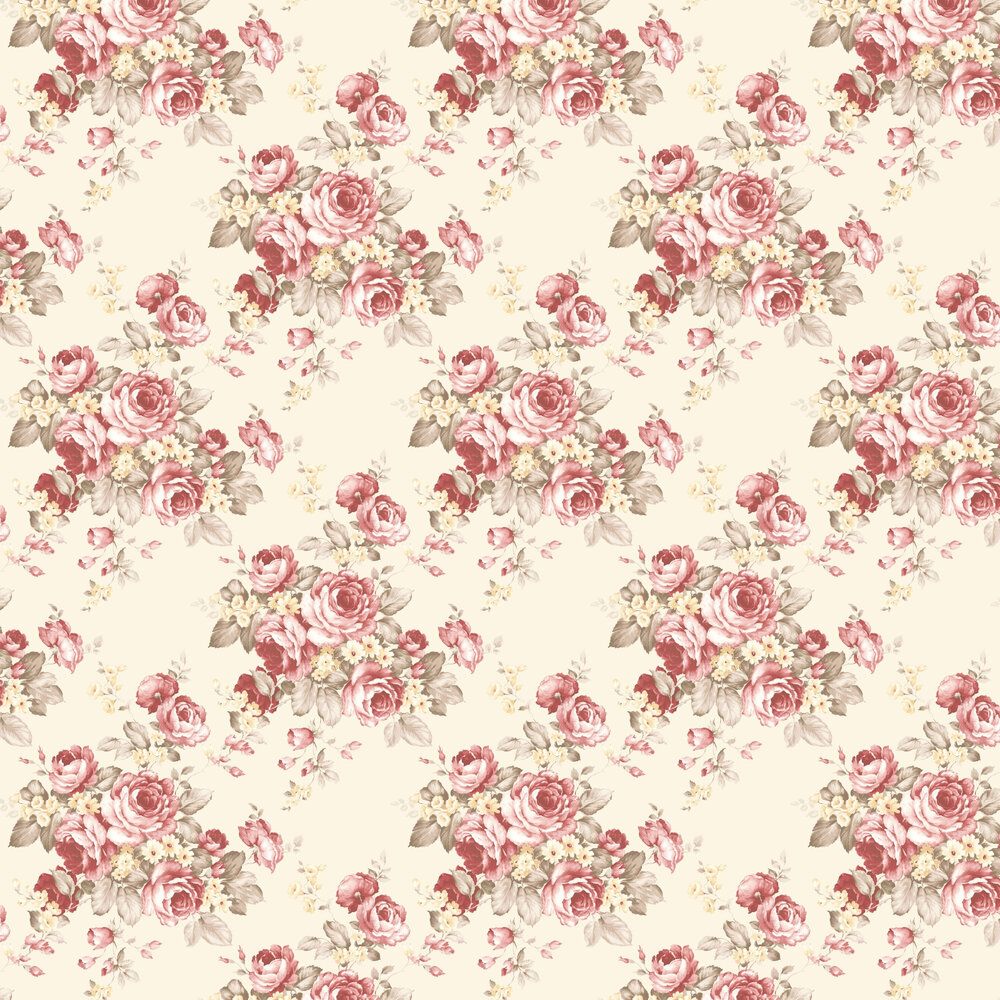 Grand Floral Wallpaper - Ivory - by Galerie