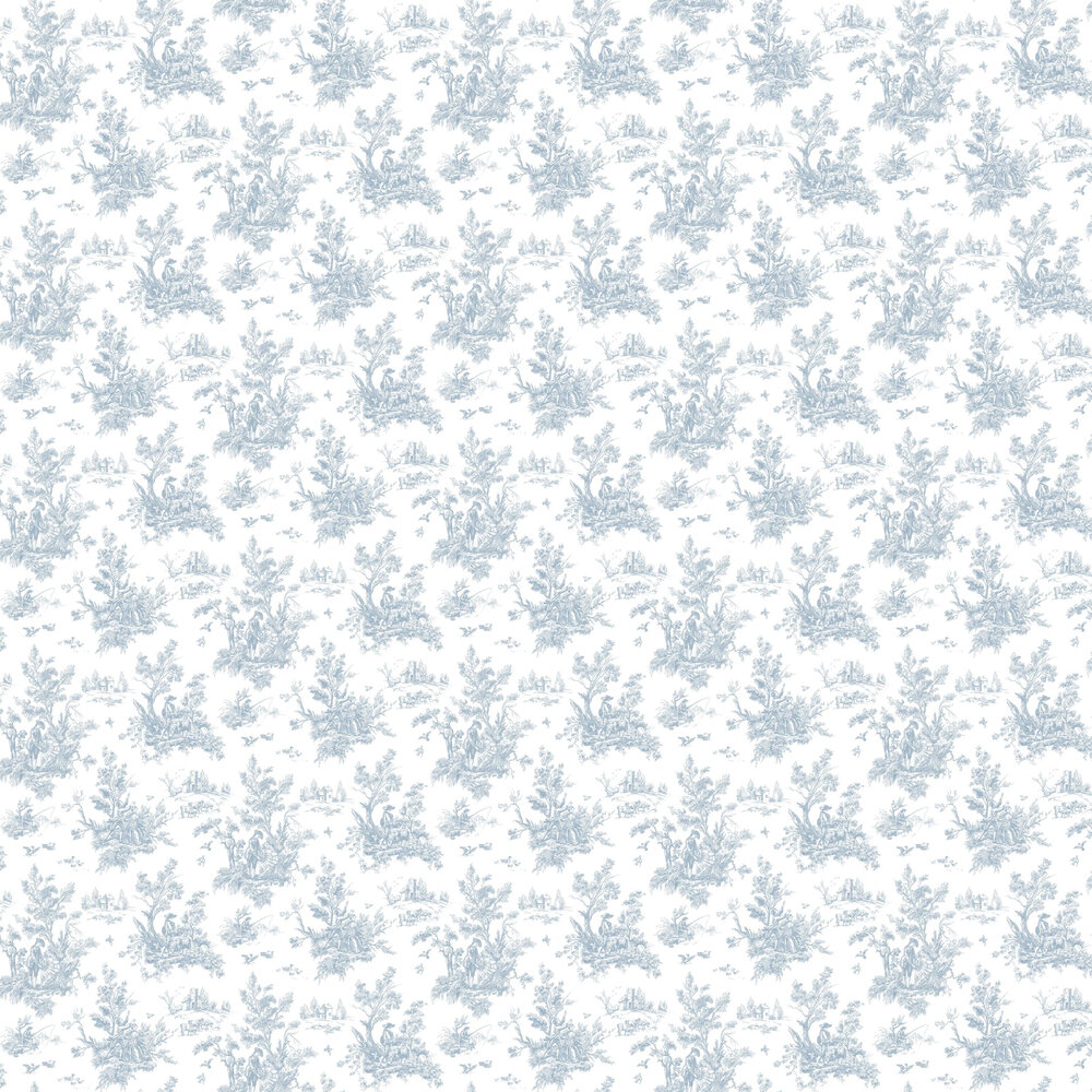 Toile Wallpaper - Blue - by Galerie