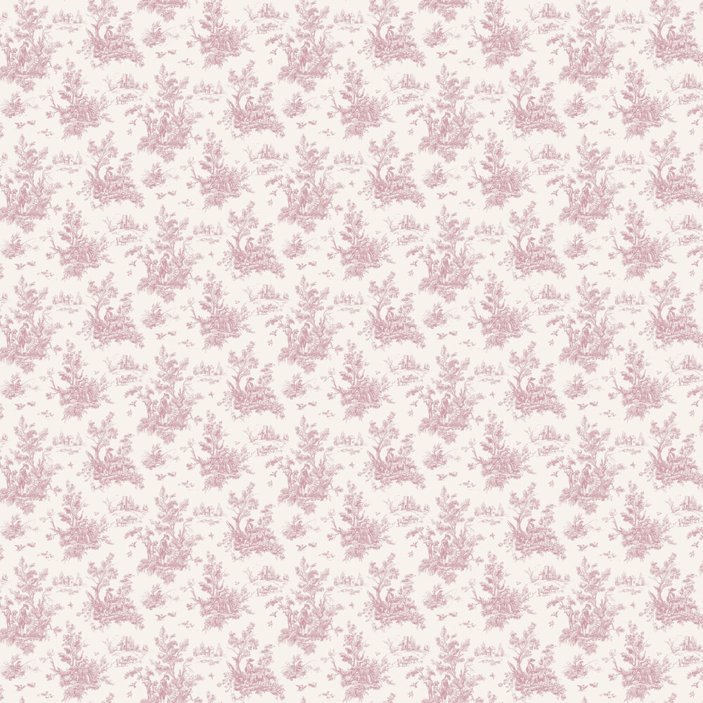 Toile Wallpaper - Pink - by Galerie