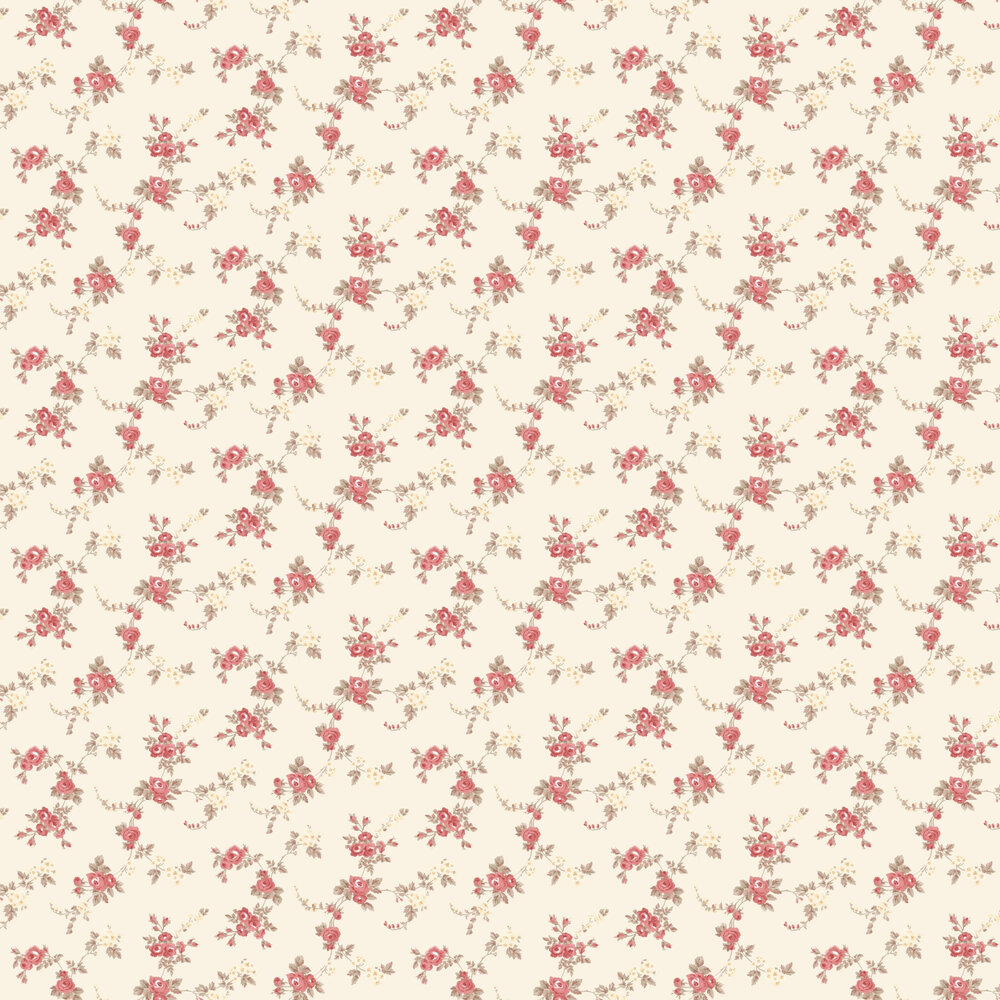 Chic Rose Wallpaper - Cream - by Galerie