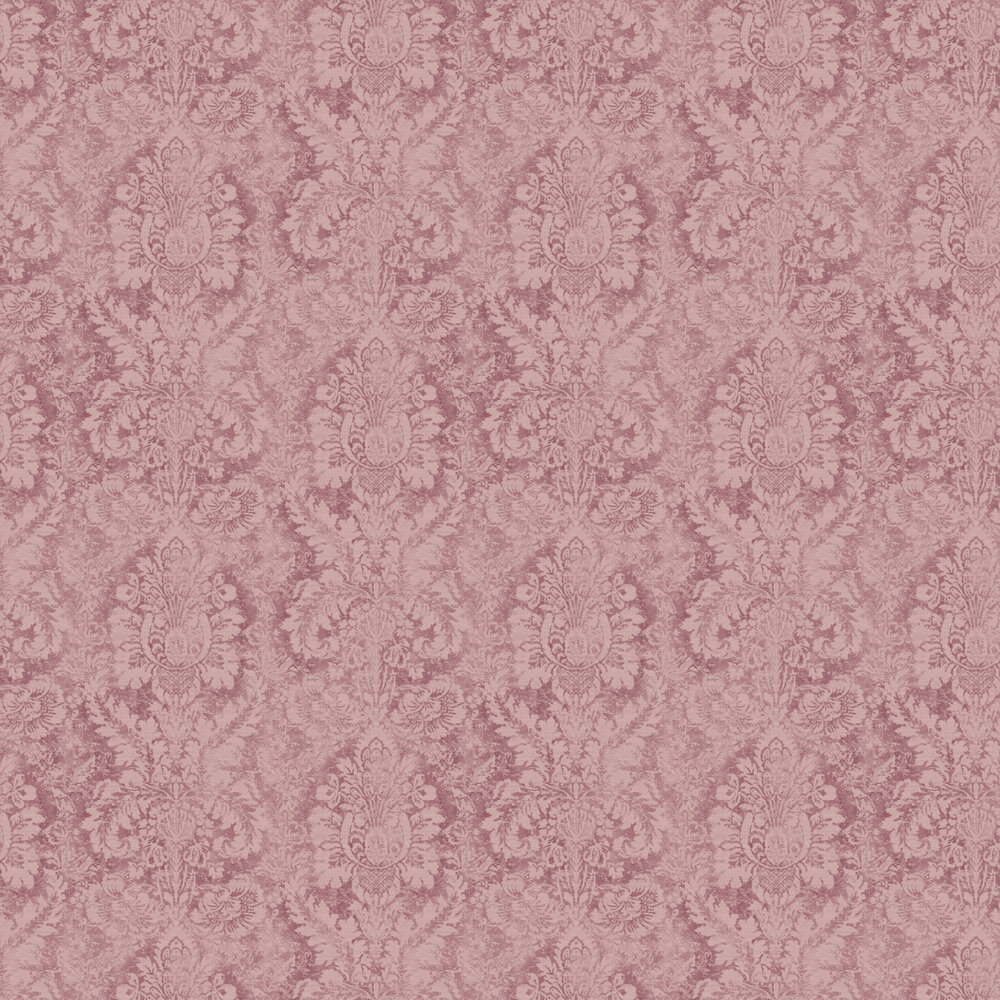 Chic Rose Wallpaper - Maroon - by Galerie