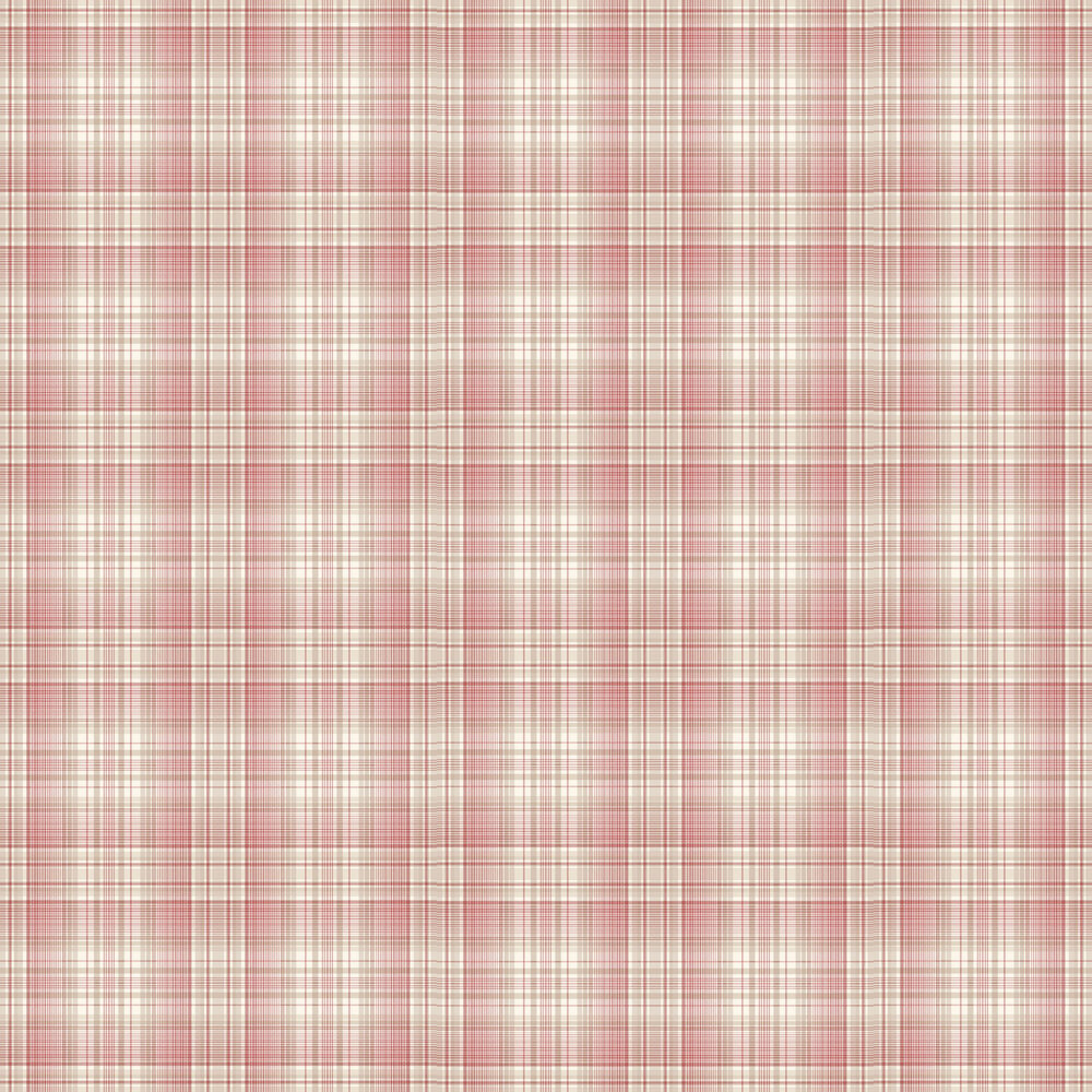 Check Plaid Wallpaper - Red - by Galerie