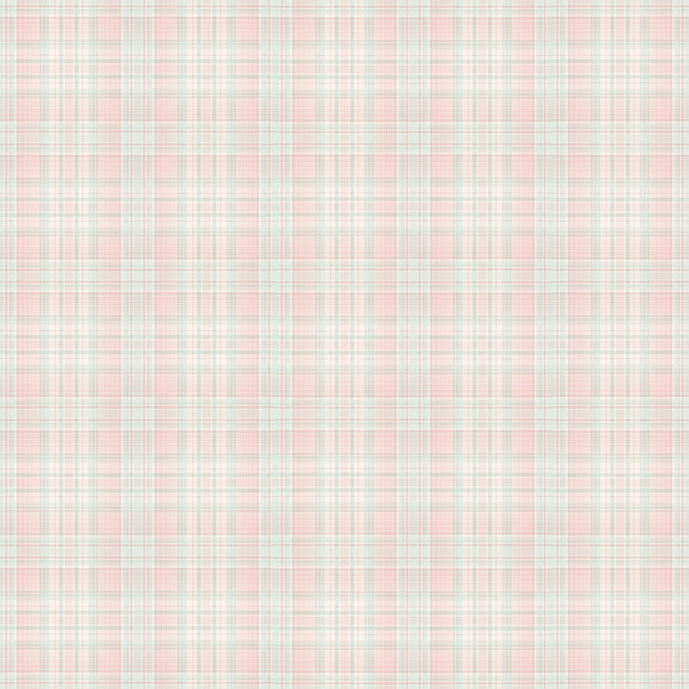 Check Plaid Wallpaper - Pink - by Galerie