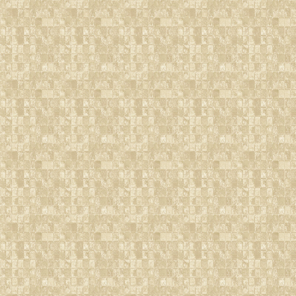 Tile Wallpaper - Gold - by Galerie