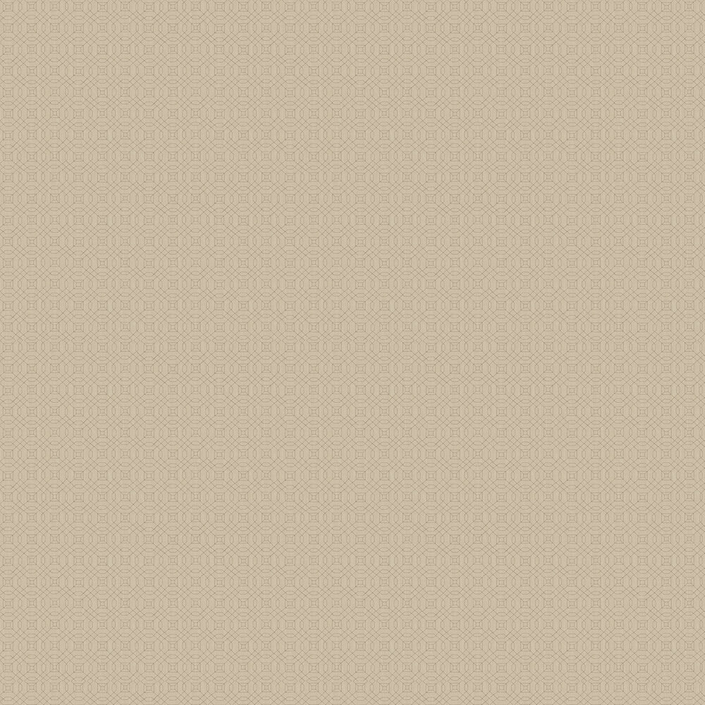Mini Geo Line Wallpaper - Tan - by Galerie