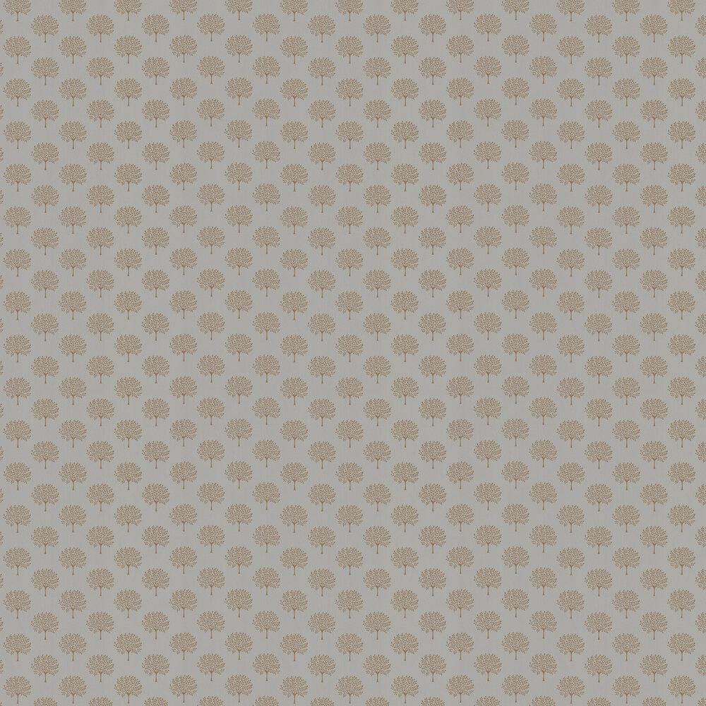 Marcham Wallpaper - Copper Grey - by Sanderson
