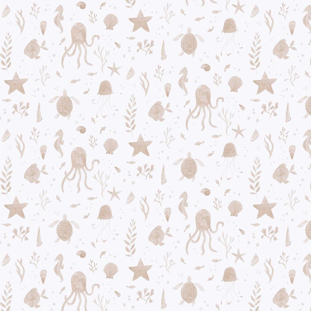 Della Wallpaper - Coral - by Sandberg