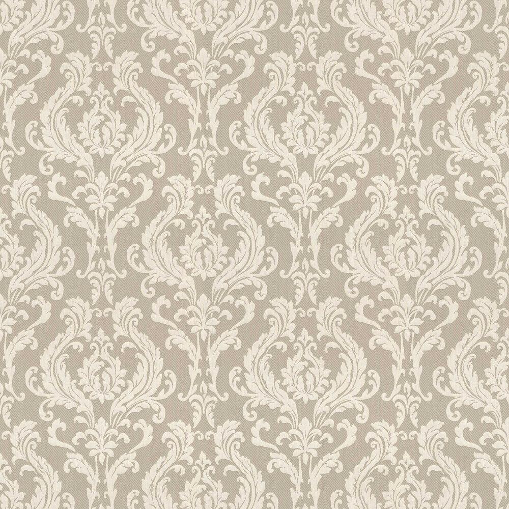 Herringbone Damask Wallpaper - Brown - by Elite Wallpapers