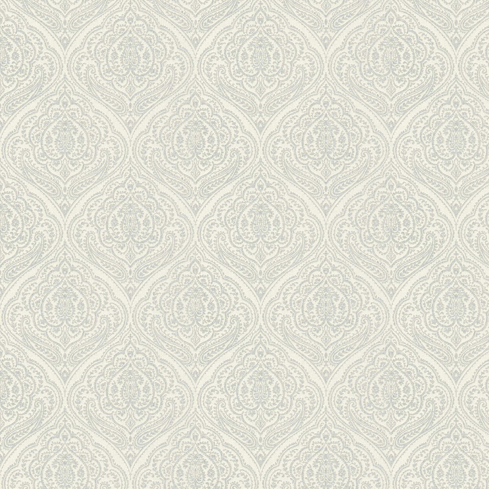 Paisley Damask Wallpaper - White - by Elite Wallpapers