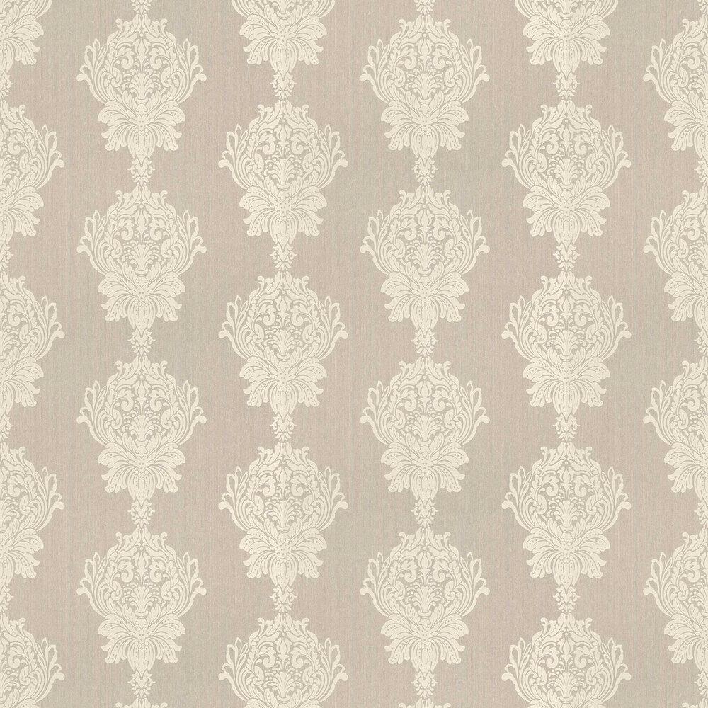 Damask Stripe Wallpaper - Beige - by Elite Wallpapers