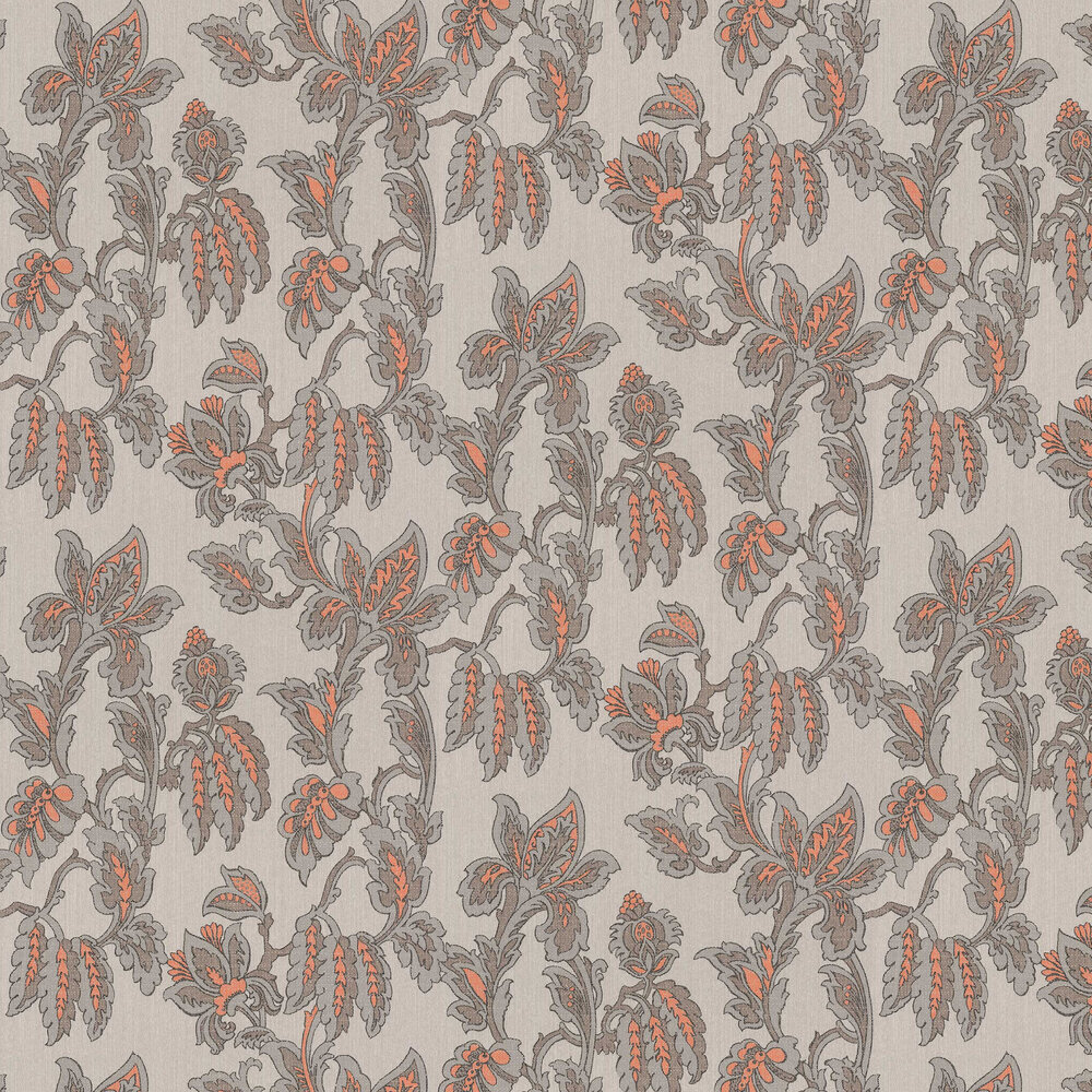 Pomegranate Trail Wallpaper - Brown - by Elite Wallpapers