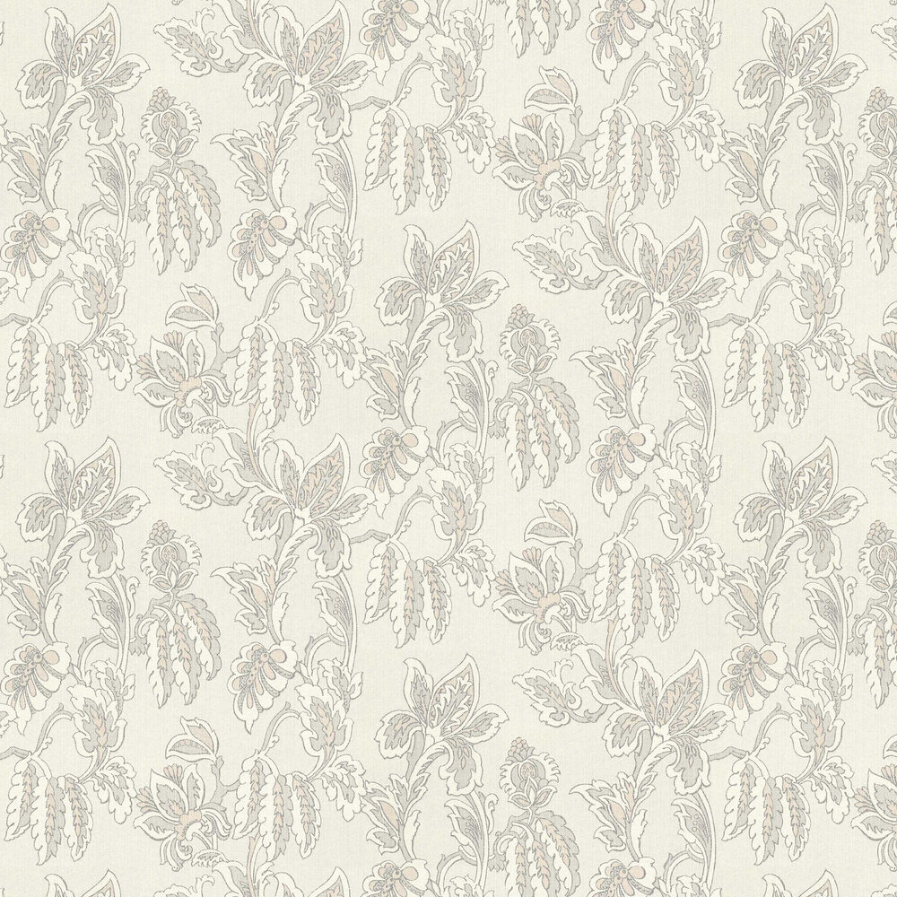 Pomegranate Trail Wallpaper - Pearl - by Elite Wallpapers