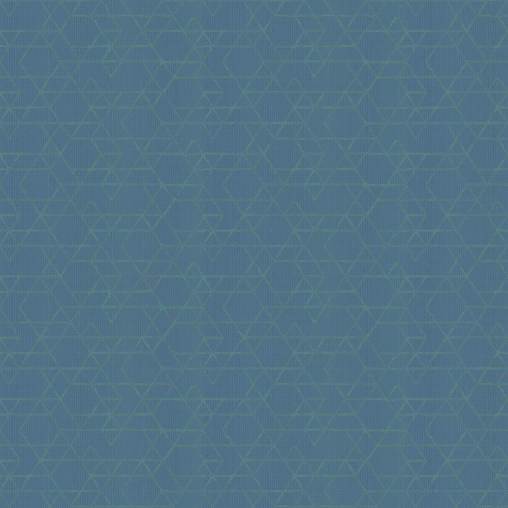 Geo Line Wallpaper - Teal - by Galerie