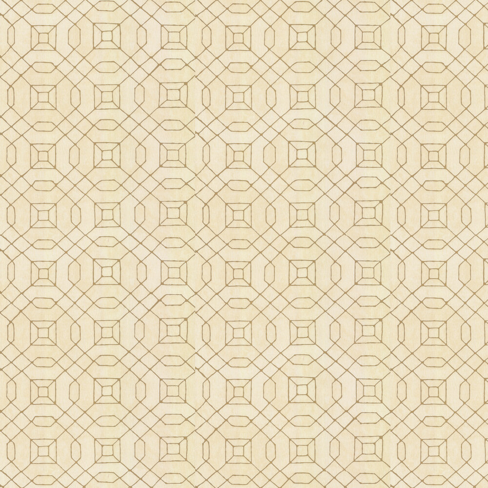 Geo Line Wallpaper - Gold - by Galerie