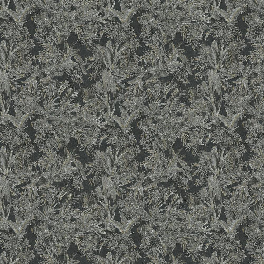 Kenya  Wallpaper - Charcoal - by Roberto Cavalli