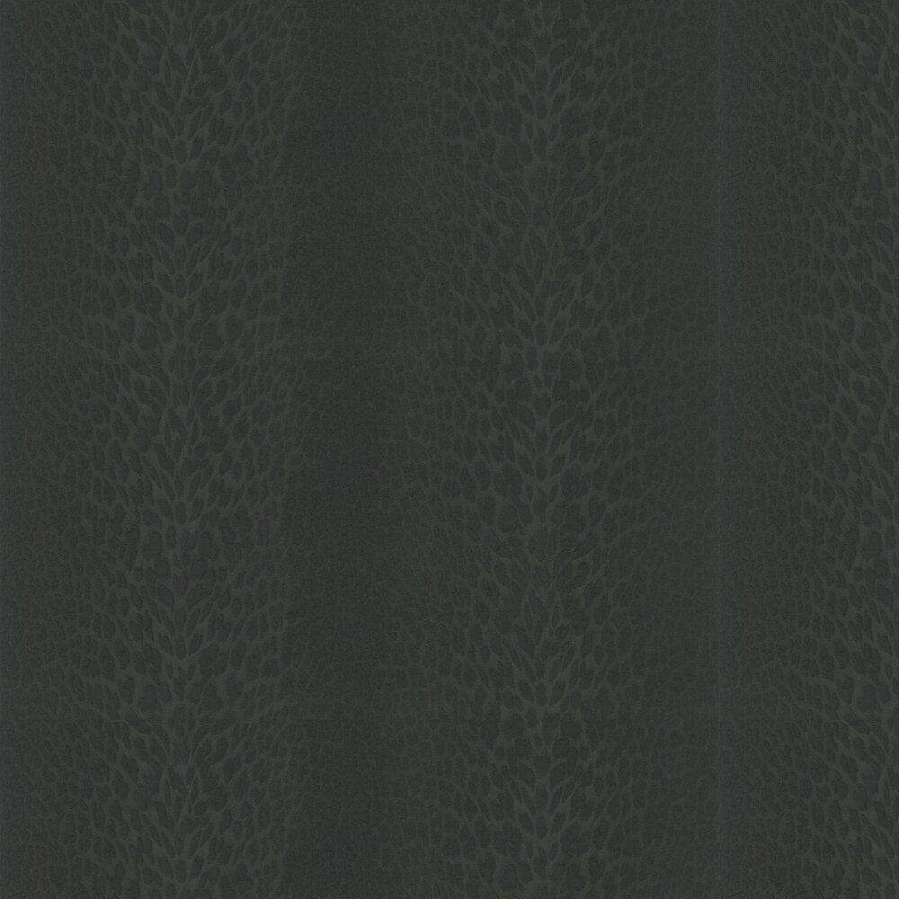 Unito Pantera Wallpaper - Noir - by Roberto Cavalli