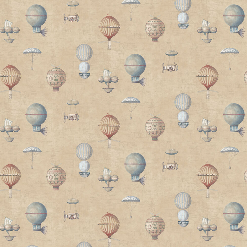 Air Ships Wallpaper - Gold - by Galerie