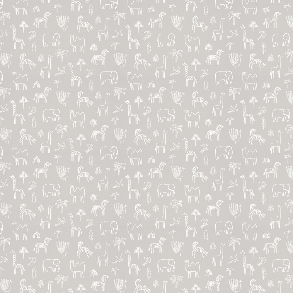 Funky Jungle Wallpaper - Stone - by Harlequin