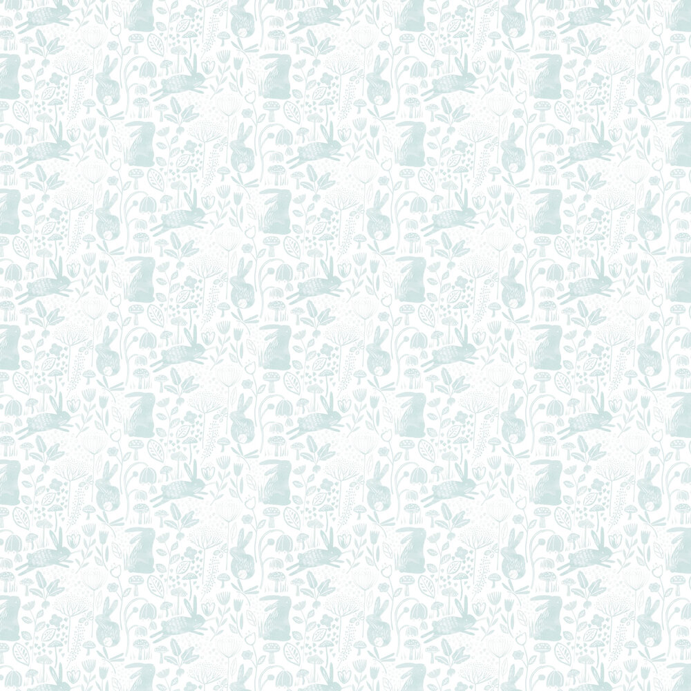 Into The Meadow  Wallpaper - Duck Egg - by Harlequin