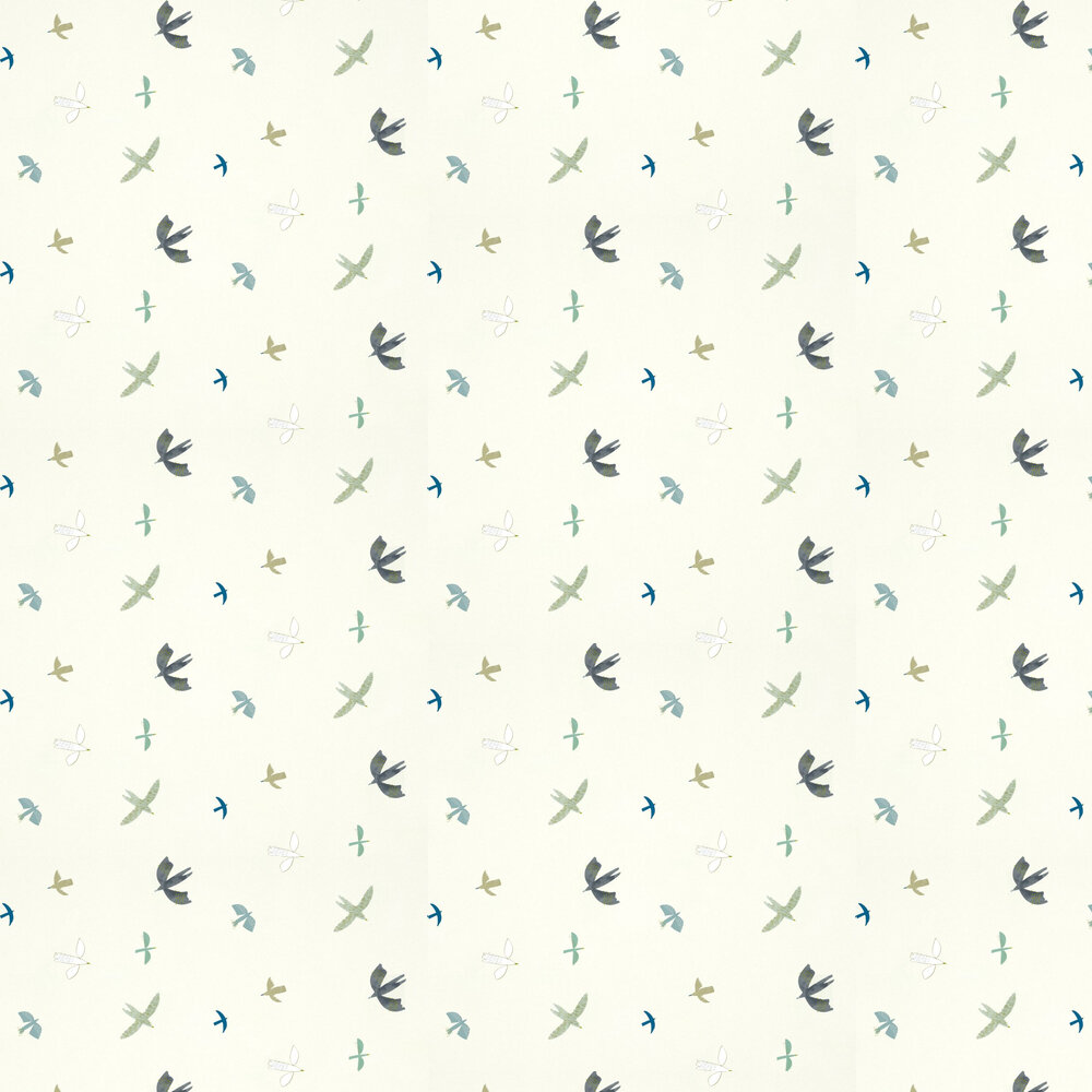Skies Above Wallpaper - Duck Egg / Linen - by Harlequin
