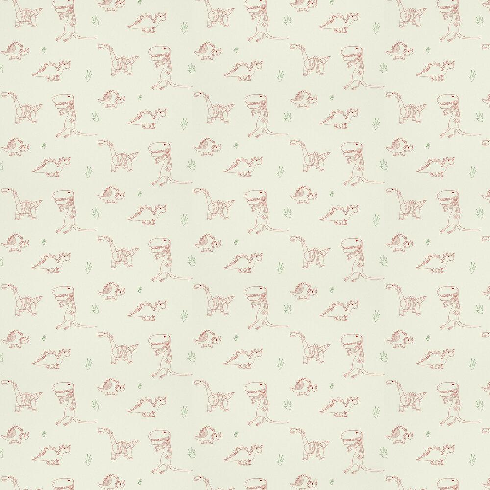 Jolly Jurassic Wallpaper - Cream - by Harlequin