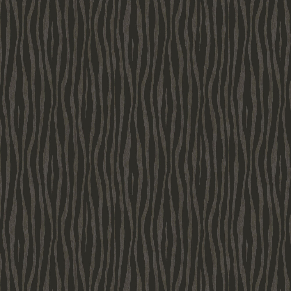 Zebra Stripe Wallpaper - Charcoal - by Eijffinger