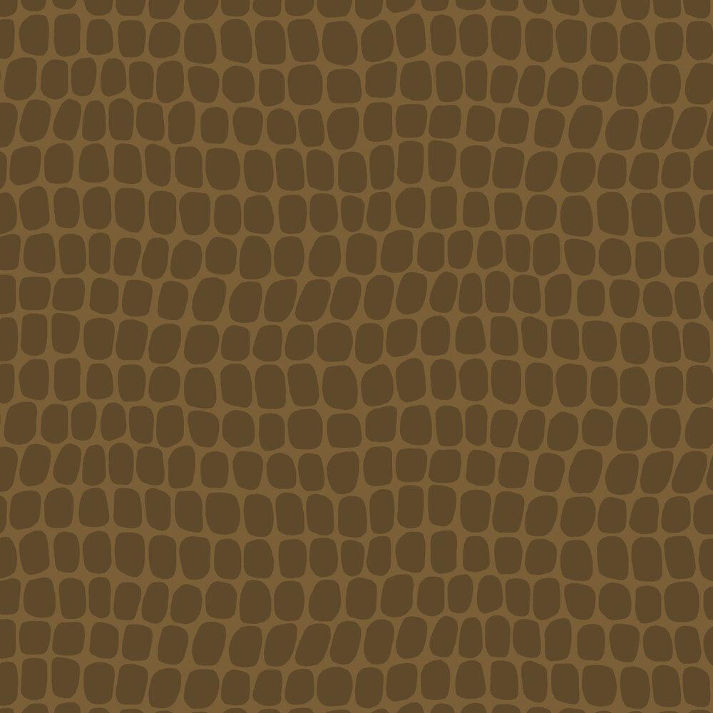 Crocodile Pattern Wallpaper - Brown - by Eijffinger
