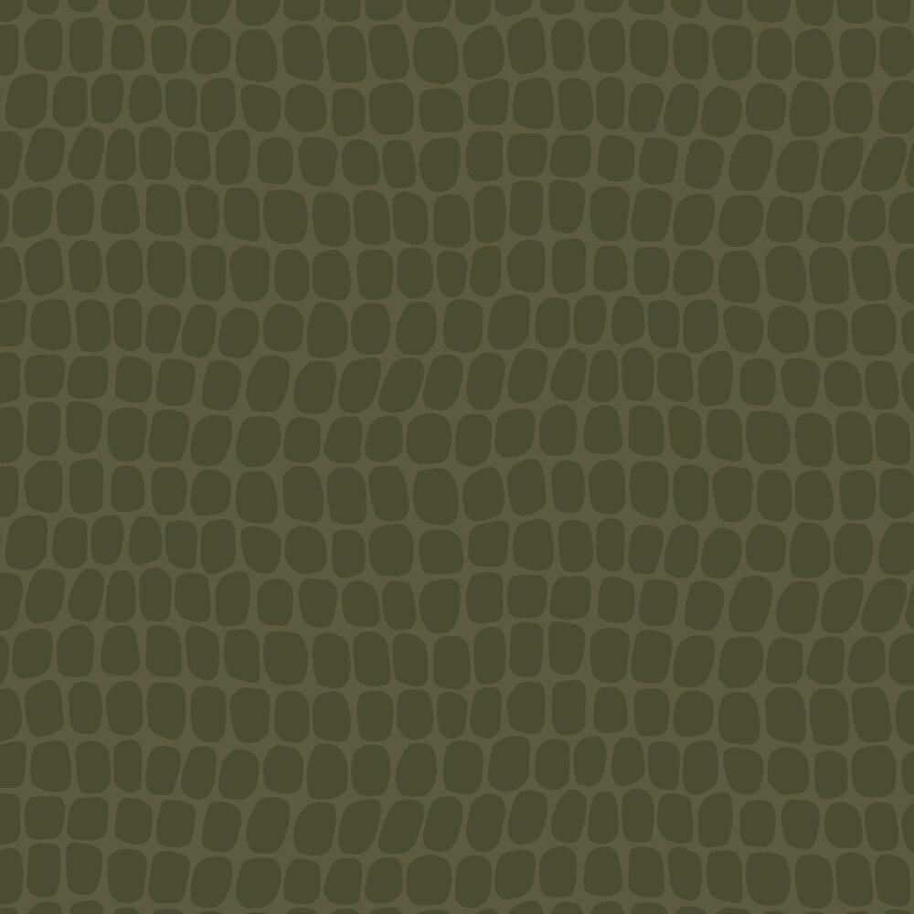 Crocodile Pattern  Wallpaper - Khaki - by Eijffinger