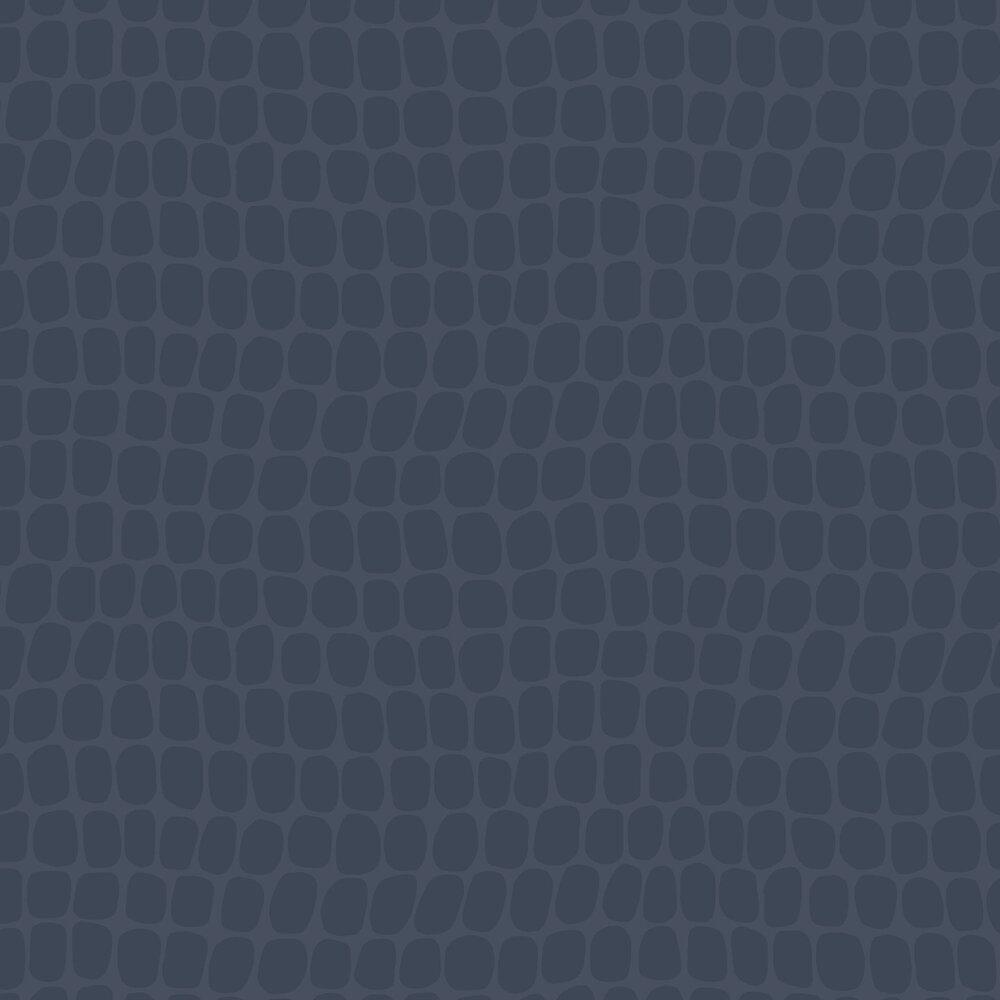 Crocodile Pattern Wallpaper - Blue - by Eijffinger